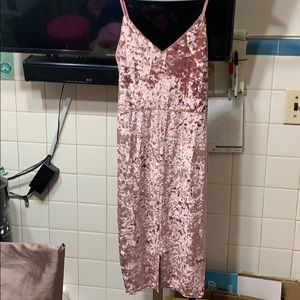 Brand New Without Tags Pink Velvet Dress